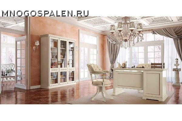 КАБИНЕТ TORRIANI AVORIO Camelgroup купить в салоне-студии мебели Барселона mnogospalen.ru много спален мебель Италии классические современные