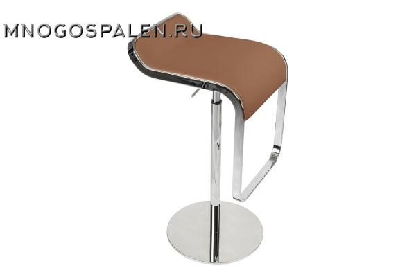 Барный стул LEM Style Piston Stool коричневая кожа купить в салоне-студии мебели Барселона mnogospalen.ru много спален мебель Италии классические современные