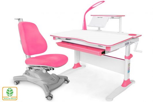 Комплект парта и кресло Mealux EVO-30 (с лампой) (дерево) купить в салоне-студии мебели Барселона mnogospalen.ru много спален мебель Италии классические современные